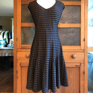 Taylor Black and Gray Dress - Size 6